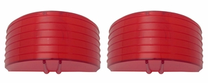 Trim Parts: A1023 / New 1955 Chevy Full Size Back Up Light Lens, Red