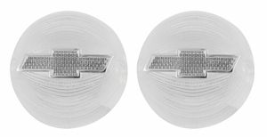 Trim Parts: A1379C-CLEAR / New 1956 Chevy Full Size Bowtie Tail Light Lens, Clear