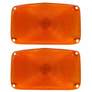 Trim Parts: A1385A / New 1956 Parking Light Lens, Amber
