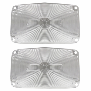 Trim Parts: A1387 / New 1956 Chevy Full Size Bowtie Parking Light Lens, Clear