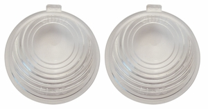 Trim Parts: A1475 / New 1955-1956 Chevy Full Size License Lamp Lens