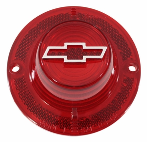 Trim Parts: A2150B / New 1962 Chevy Full Size Bowtie Tail Light Lens