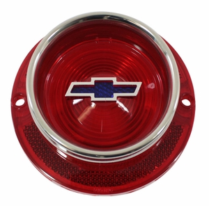 Trim Parts: A2250G / New 1963 Chevy Full Size Blue Dot Bowtie Tail Light Lens