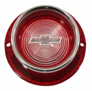 Trim Parts: A2260T / New 1963 Chevy Full Size Bowtie Back Up Light Lens