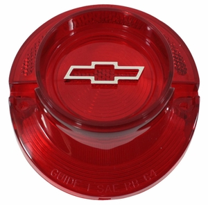 Trim Parts: A2350B / New 1964 Chevy Full Size Bowtie Tail Light Lens