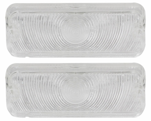 Trim Parts: A2439C / New 1964 Chevy Full Size Parking Light Lens, Clear