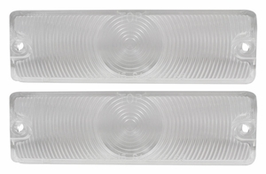 Trim Parts: A2440C / New 1965 Chevy Full Size Parking Light Lens, Clear