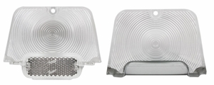 Trim Parts: A3040C / New 1962-1964 Chevy II/Nova Tail Light Lens Set, Clear