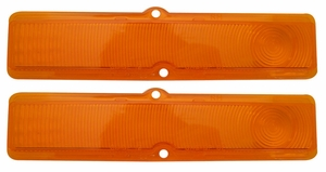 Trim Parts: A3044 / New 1963-1964 Chevy II/Nova Parking Light Lens, Amber