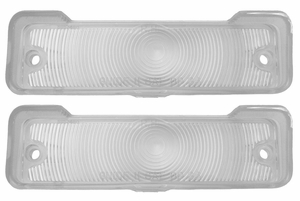 Trim Parts: A3046C / New 1966-1967 Chevy II/Nova Parking Light Lens, Clear