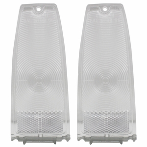 Trim Parts: A3047C / New 1966-1967 Chevy II/Nova Tail Light Lens, Clear
