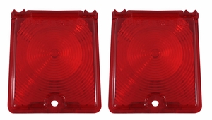 Trim Parts: A3048-RED / New 1966-1967 Chevy II/Nova Back Up Light Lens, Red