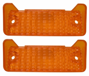 Trim Parts: A3055 / New 1968-1969 Chevy II/Nova Parking Light Lens, Amber