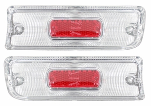 Trim Parts: A4225 / New 1964 Chevelle Back Up Light Lens with Red Reflector