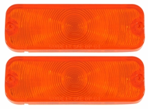 Trim Parts: A4247 / New 1964 Parking Light Lens, Amber