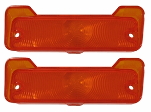 Trim Parts: A4249 / New 1966 Parking Light Lens, Amber