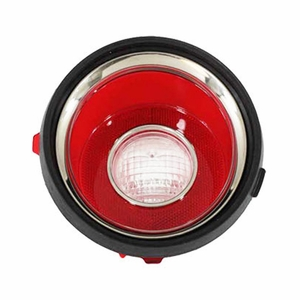 Trim Parts: A6709 / New 1971-1973 Late Camaro R/S Back Up Light Lens, RH