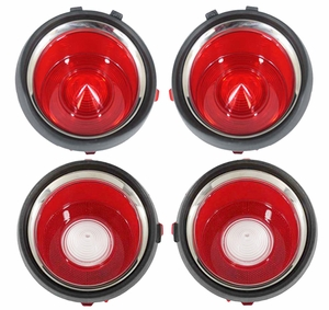 Trim Parts: A6712S / New 1971-1973 Tail Light Lens Set