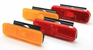 Trim Parts: A6732 / 1970-1973 Camaro Front & Rear Side Marker Light Set w/Hardware