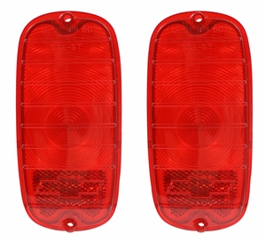 Trim Parts: A9100 / 1960-1966 Fleetside Tail Light Lenses / Red