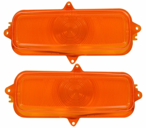 Trim Parts: A9126 / New 1960-1966 Chevrolet Parking Light Lenses / Amber