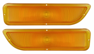 Trim Parts: A9832 / New 1962-1966 GMC Parking Light Lenses, Amber