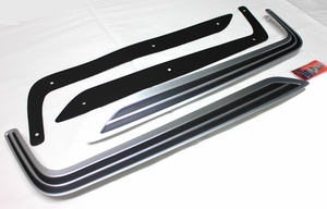 Trim Parts: MP5801 / 1968-1969 Coronet R/T Hood Insert Satin Chrome