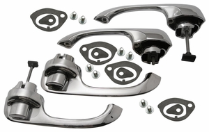 Trim Parts: New 1964-65 Chevelle & Malibu Outside Door Handles / Set of Four