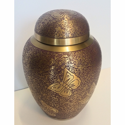 Purple Butterfly Sharing Urn