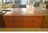 24x72 Used Wood Buffet Credenza