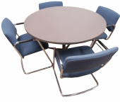 "48"" Round Table W/Chairs"
