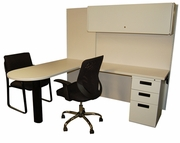 5x6 Bullet top Cubicle Customer Desk