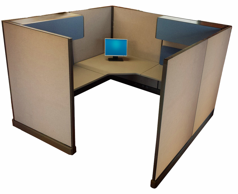 Used 8x8 cubicles for 8x8 office design