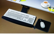 Articulating Keyboard Tray with Mouse Pad