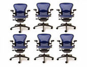 Bundle of 6  Aeron chairs.