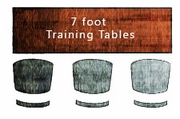 Custom 7 ft Training Tables