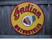 Custom Indian Motorcycle Sign