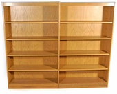 Double Sided Double bookcase