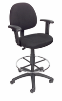 Drafting Stool with Adjustable Arms