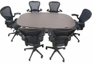 Herman Miller Conference table with 6 Aeron chairs.
