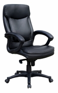 High-Back Executive Chair with Upholstered Arms and Knee-Tilt Control