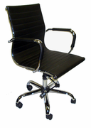 Mid-Back Managers Chair with Removable Arm Covers.  Knee-Tilt Control with Chrome Frame and Base