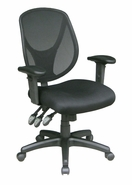 Adjustable Arm Task Chair - Vinyl or Fabric Seat