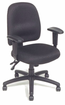Multi-Function Task Chair with Adjustable Padded Arms, Built-in Lumbar Support and 3-Paddle Control