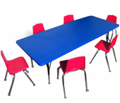 New - Adjustable-leg Classroom Table