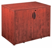 "New Laminate Wood - 29"" Tall 2 Door Storage Cabinet with lock."