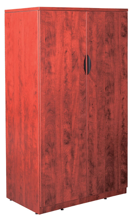 New Laminate Wood 6512 Tall 2 Door Storage Cabinet with lock