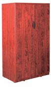 New Laminate Wood � 65-1/2� Tall 2 Door Storage Cabinet with lock.