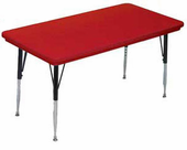 New - Red Adjustable-leg Classroom Table