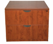 New Wood Laminate - 2 Drawer Lateral File with lock.